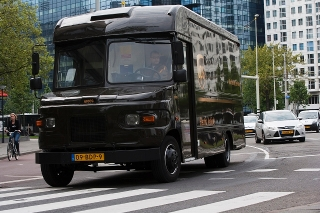 UPS now has four electric-converted P80s in use in Rotterdam