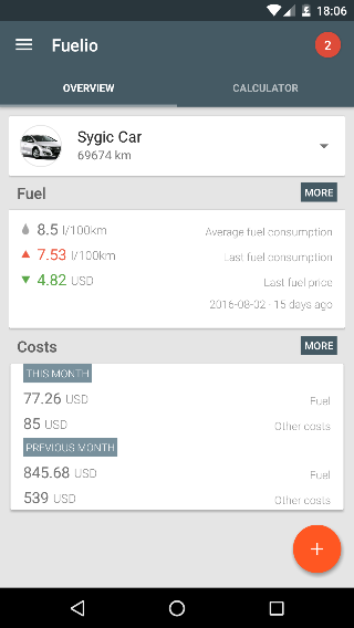 New Fuelio fuel cost and mileage tracking app brings