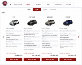 FCA Fleet websites