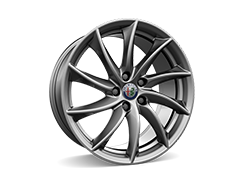 18inch 10-spoke alloy wheels with 225/45 8J (front) and 255/40 9J (rear) tyres