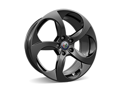 18inch 5-Hole dark finish alloy wheels with 225/45 8J (front) and 255/40 9J (rear) tyres