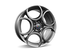 18inch 5-hole design alloy wheels with 225/40 R18 tyres