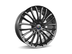 18inch Burnished Multi-spoke alloy wheels with 225/40 R18 tyres